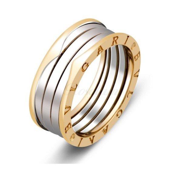 Эксклюзив - Обручальное кольцо из комбинированного золота  - TTZ-291