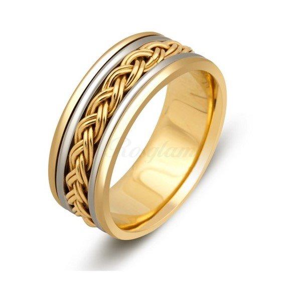 Эксклюзив - Обручальное кольцо из комбинированного золота  - TTZ-273