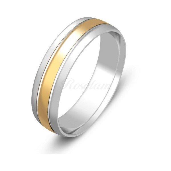 Эксклюзив - Обручальное кольцо из комбинированного золота  - TTZ-596