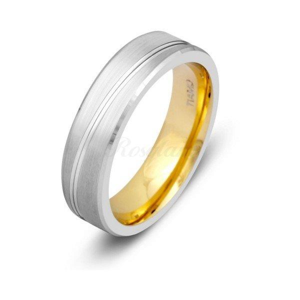 Эксклюзив - Обручальное кольцо из комбинированного золота - TTZ-1297