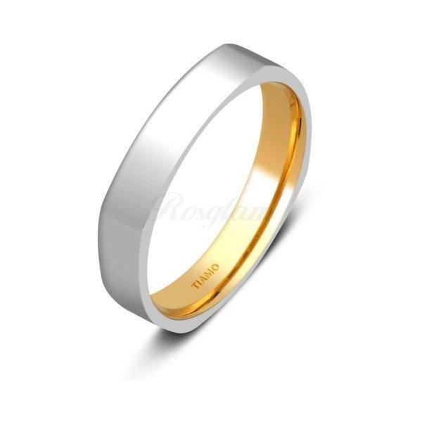 Эксклюзив - Обручальное кольцо из комбинированного золота - TTZ-1306