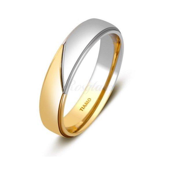 Эксклюзив - Обручальное кольцо из комбинированного золота - TTZ-2110