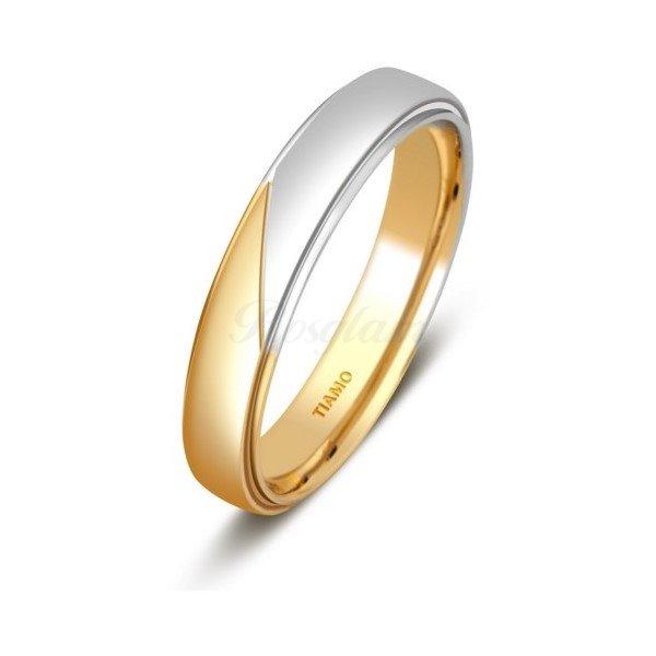 Эксклюзив - Обручальное кольцо из комбинированного золота - TTZ-1315