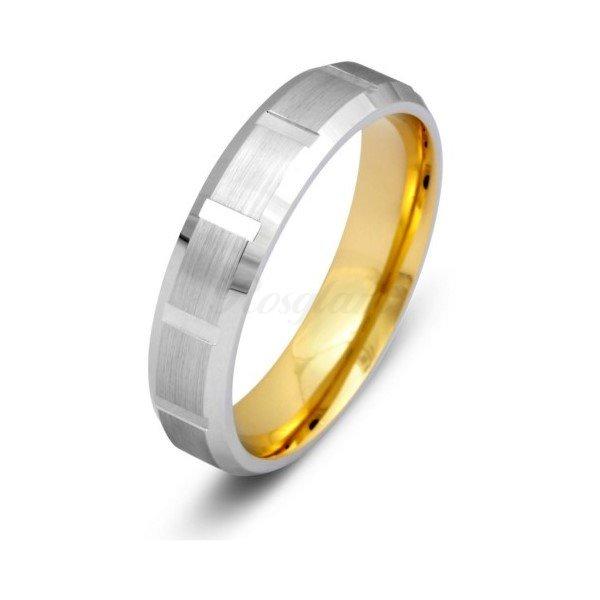 Эксклюзив - Обручальное кольцо из комбинированного золота - TTZ-1304