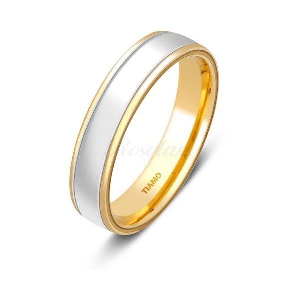 Эксклюзив - Обручальное кольцо из комбинированного золота - TTZ-2106