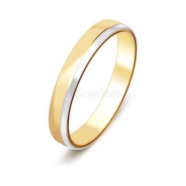 Эксклюзив - Обручальное кольцо из комбинированного золота  - TTZ-110